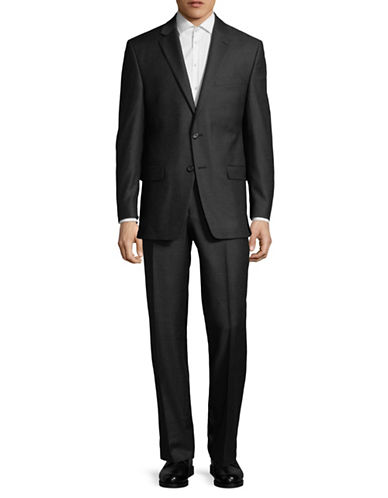 Lauren Ralph Lauren Classic Wool Suit-GREY-44 Tall