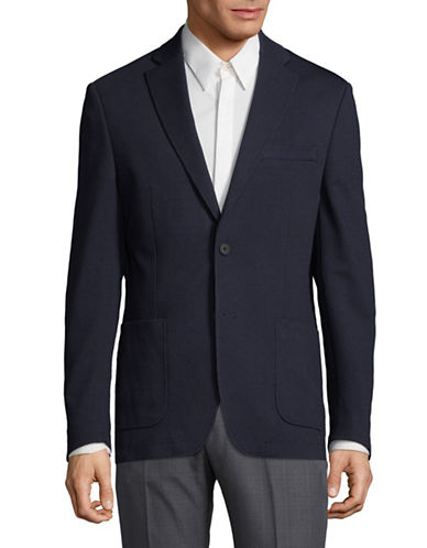 Dkny Buttoned Suit Jacket-BLUE-44 Regular