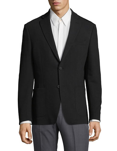 Dkny Buttoned Suit Jacket-BLACK-44 Regular