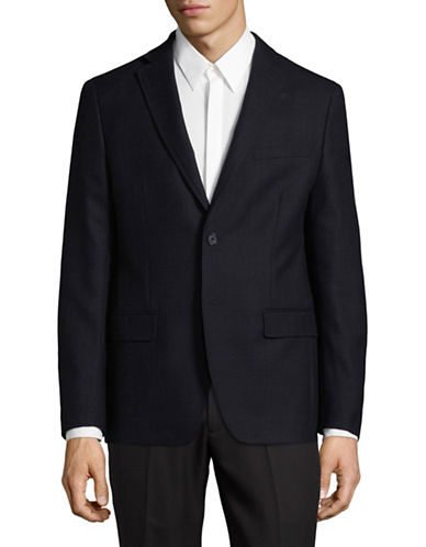 Dkny Wool Blazer-BLUE-44 Tall