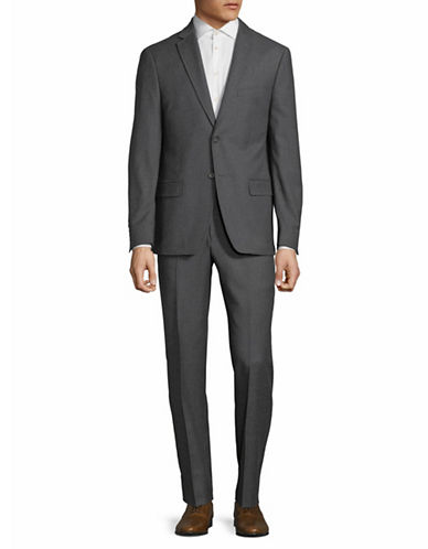 Dkny Classic Wool Suit-GREY-40 Tall
