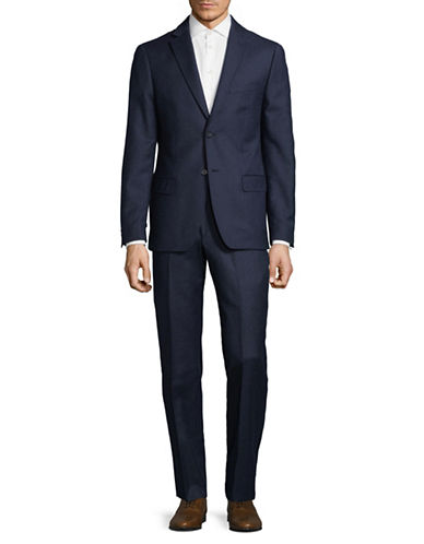 Dkny Classic Wool Suit-BLUE-40 Tall