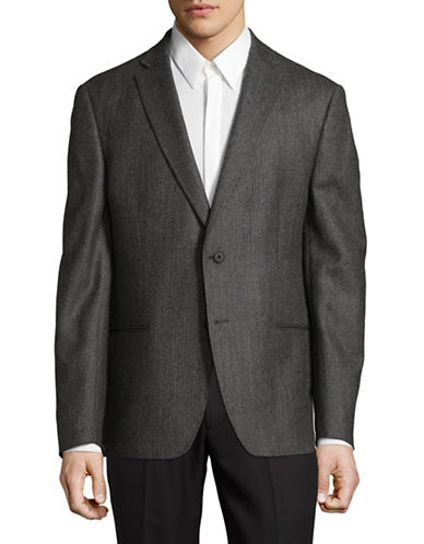 Dkny Welt-Pocket Wool Blazer-GREY-44 Tall