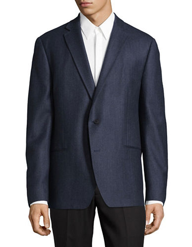 Dkny Welt-Pocket Wool Blazer-BLUE-38 Regular