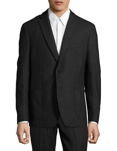 Dkny Notch Lapel Sportcoat-BLACK-40 Short