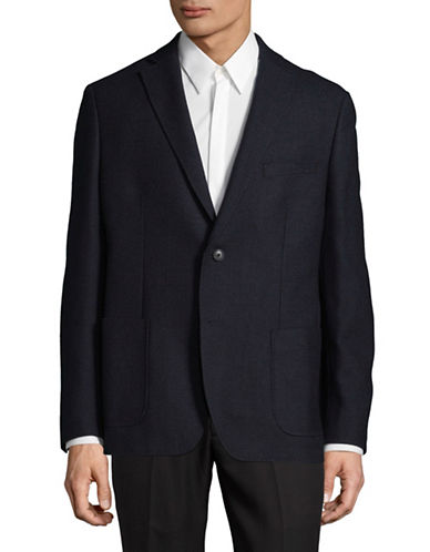 Dkny Notch Lapel Sportcoat-DARK BLUE-42 Tall