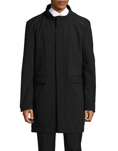 Dkny Five-Snaps Topcoat-BLACK-44 Tall
