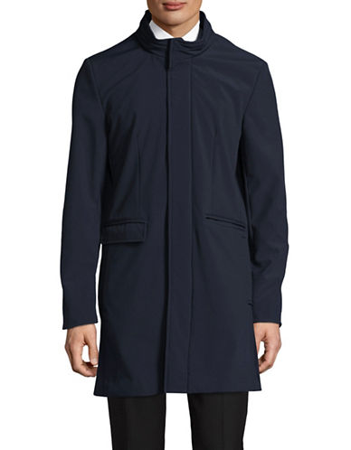 Dkny Five-Snaps Topcoat-NAVY-42 Tall