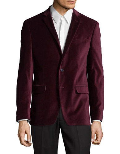 Calvin Klein Velvet Sports Jacket-RED-48 Regular