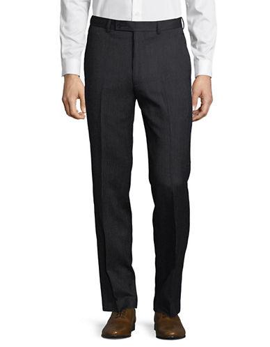 Calvin Klein Wool Pinstripe Pants-NAVY-35X32