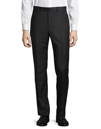 Calvin Klein X-Fit Slim Wool Pant-GREY-33X32