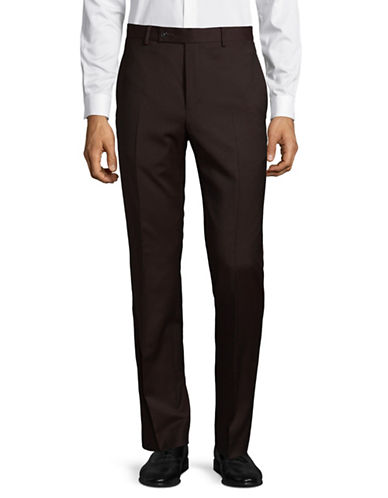 Calvin Klein X-Fit Slim Wool-Blend Pant-RED-35X34