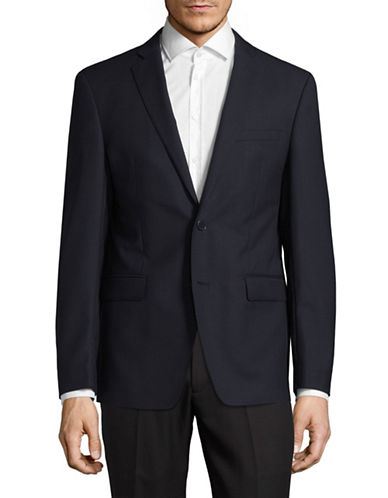 Calvin Klein X-Fit Slim Pinstripe Sports Jacket-BLUE-40 Short