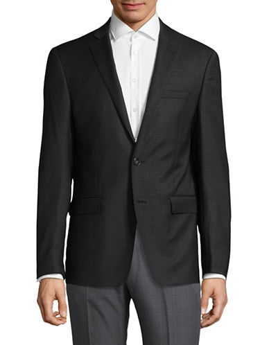Calvin Klein Two-Button Notch Lapel Sportcoat-GREY-46 Regular