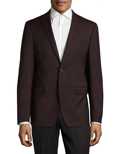 Calvin Klein X-Fit Slim  Sports Jacket-RED-44 Tall