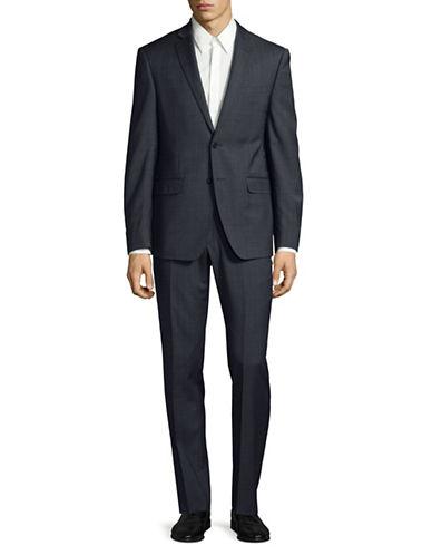 Calvin Klein X-Fit Slim Tonal Wool Suit-BLUE-44 Regular