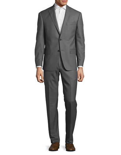Michael Kors Pinstripe Wool Suit-GREY-42 Tall