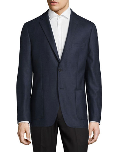 Michael Michael Kors Classic Wool Suit Jacket-BLUE-38 Short