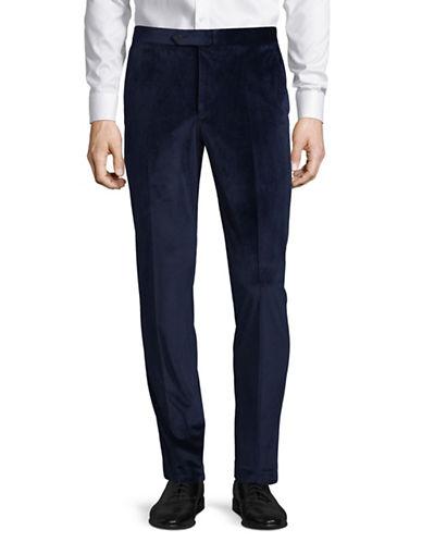 1670 Velvet Dress Pants-BLUE-34X30