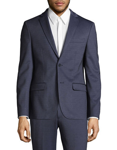 1670 Twill Slim Fit Sports Jacket-BLUE-40 Short