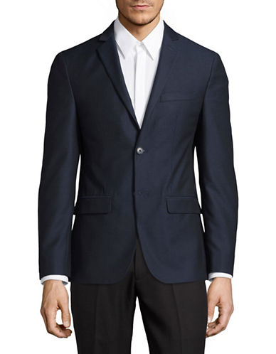 1670 Slim Fit Solid Sport Jacket-BLUE-48 Regular