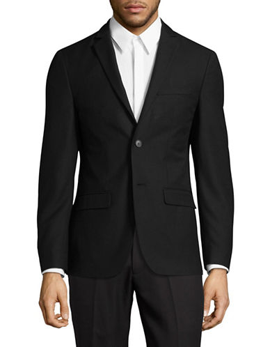1670 Slim Fit Solid Sport Jacket-BLACK-38 Short