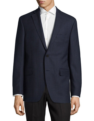 Black Brown 1826 Slim-Fit Wool Sports Jacket-BLUE-46 Tall