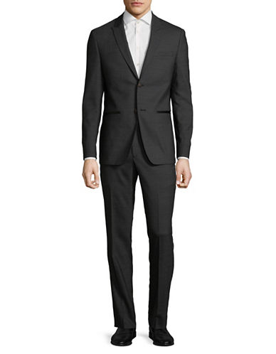 John Varvatos Star U.S.A. Peak Lapel Suit-GREY-40 Tall