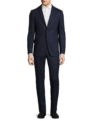 John Varvatos Star U.S.A. Wool-Blend Two-Piece Suit-NAVY-44 Tall