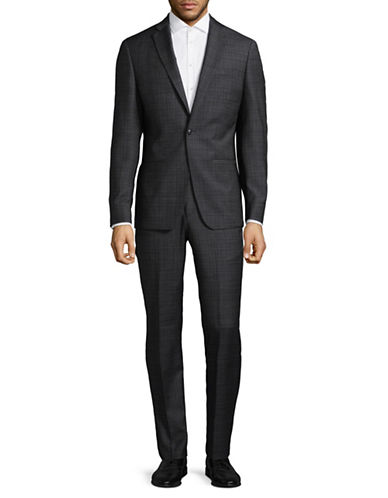 John Varvatos Star U.S.A. Wool-Blend Two-Piece Suit-GREY-44 Tall