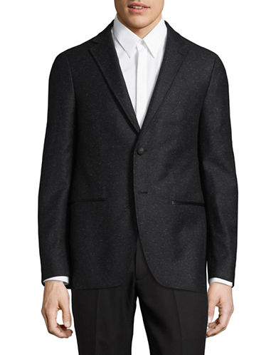 John Varvatos Star U.S.A. Silk-Wool Sport Jacket-BLACK-38 Regular