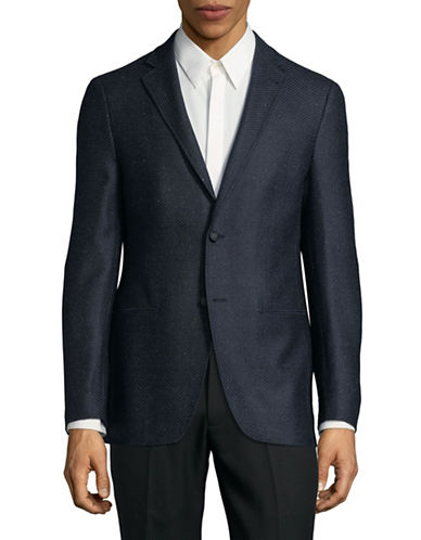 John Varvatos Star U.S.A. Button Notch Lapel Blazer-BLUE-40 Short