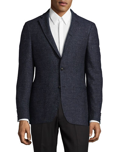 John Varvatos Star U.S.A. Twill Wool-Blend Suit Jacket-NAVY-38 Regular
