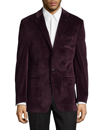 Lauren Ralph Lauren Classic Textured Suit Jacket-RED-48 Tall