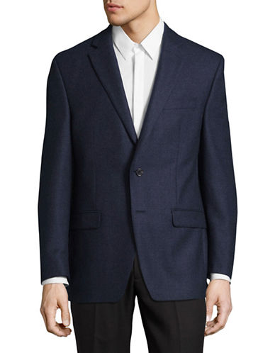 Lauren Ralph Lauren Ultraflex Wool Solid Sport Jacket-BLUE-44 Tall