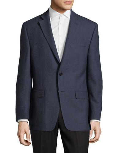 Lauren Ralph Lauren Classic Wool Sportcoat-BLUE-46 Tall
