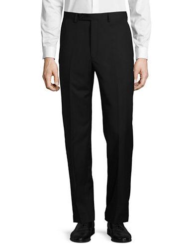 Lauren Ralph Lauren Straight Leg Wool Dress Pants-BLACK-34X34 89444268_BLACK_34X34