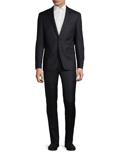 John Varvatos Star U.S.A. Notch Lapel Wool Suit-BLUE-42 Regular