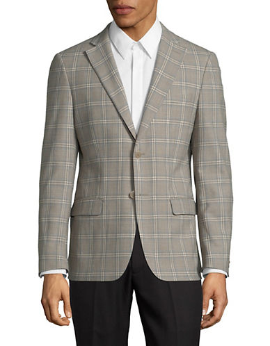 Michael Michael Kors Slim Fit Check Wool-Blend Sport Coat 89823292