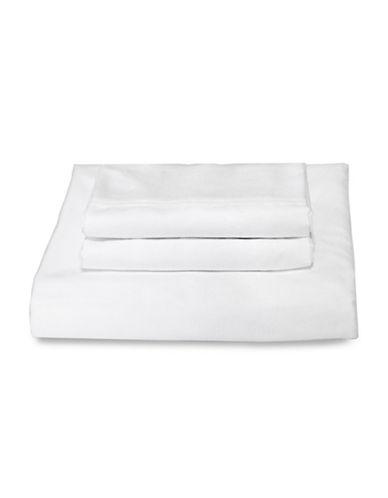 Bellisimo Bellisimo 480 Thread Count Wrinkle Free Four-Piece Sheet Set-WHITE-King