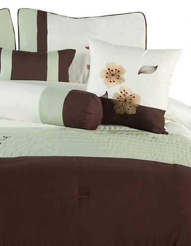 Bellisimo Olivia Seven-Piece Comforter Set-BROWN-Queen