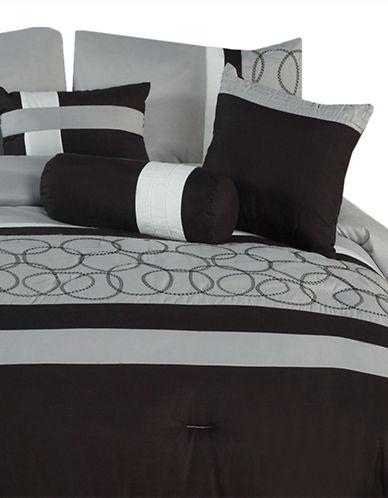 Bellisimo City Light Seven-Piece Comforter Set-GREY-King
