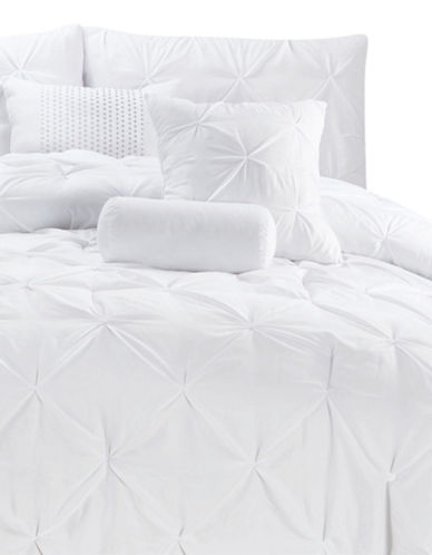 Bellisimo Ella Seven-Piece Comforter Set-WHITE-Queen