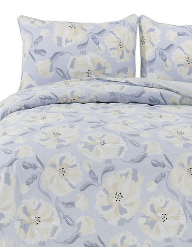 Blossom Home Carnation Three Piece Duvet Set-BLUE-Queen