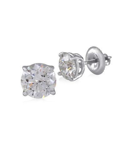 Fine Jewellery 14K White Gold Stud Earrings with 1.50 TCW Diamonds-DIAMOND-One Size