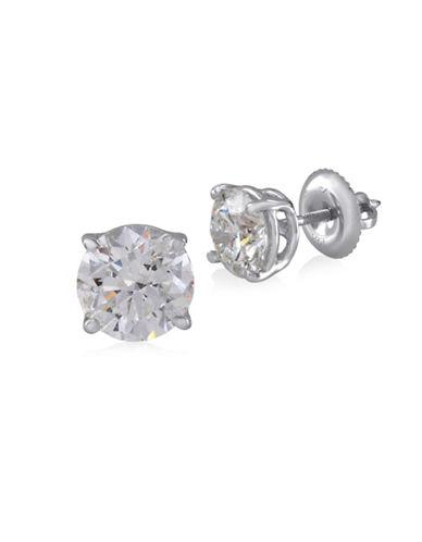 Fine Jewellery 14K White Gold Stud Earrings with 2.00 TCW Diamonds-DIAMOND-One Size