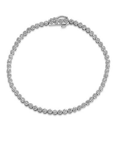 Fine Jewellery 0.5 TCW Diamond and Sterling Silver Tennis Bracelet-DIAMOND-One Size