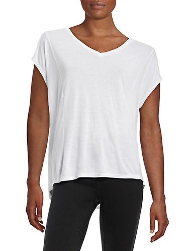 Bench V-Neck Hi-Lo T-Shirt-WHITE-X-Small 88145584_WHITE_X-Small