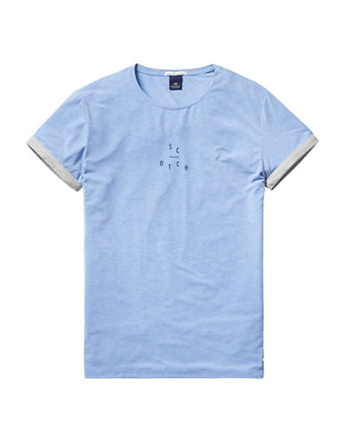 Scotch And Soda Small Text T-Shirt-BLUE-Small 88489511_BLUE_Small