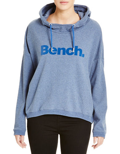 Bench Current Corp Popover Hooded Sweater-BLUE-X-Large